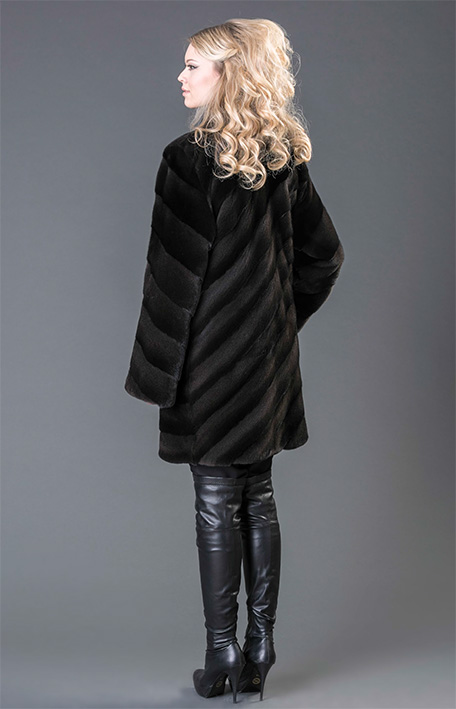 MINK BLACK MYSTIC COAT